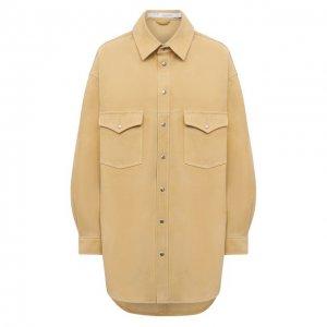 Замшевая рубашка Iro. Цвет: бежевый