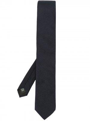 Галстук в рубчик Dolce & Gabbana. Цвет: синий