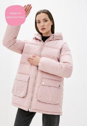 Куртка утепленная Incity. Цвет: розовый