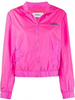 Спортивная куртка приталенного кроя MISBHV. Цвет: розовый