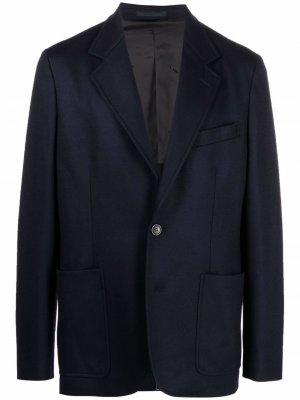 Однобортный пиджак LANVIN. Цвет: синий