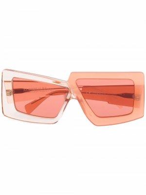 Солнцезащитные очки X10 Kuboraum. Цвет: оранжевый