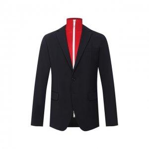 Шерстяной пиджак Dsquared2. Цвет: синий