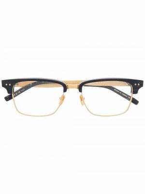Очки трапециевидной формы Dita Eyewear. Цвет: серый