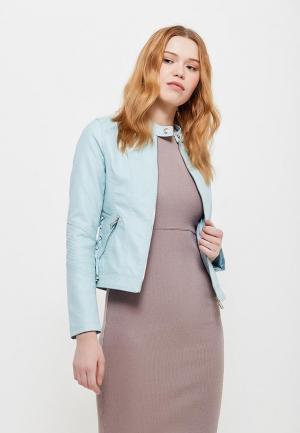 Куртка кожаная Z-Design. Цвет: голубой