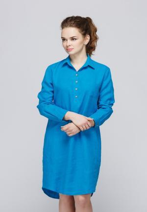 Платье Kayros. Цвет: голубой