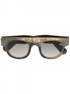 Солнцезащитные очки RG0066 в квадратной оправе Rigards. Цвет: коричневый