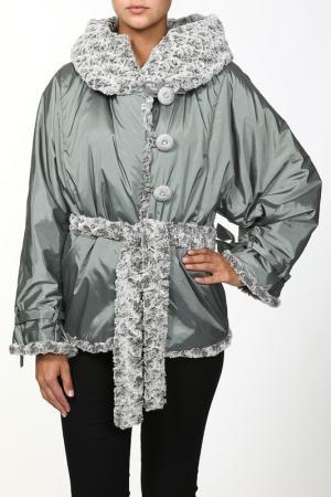 Куртка Амулет. Цвет: серый