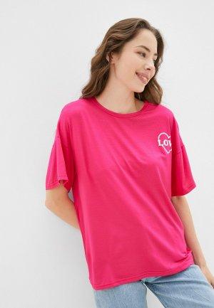 Футболка Blacksi. Цвет: розовый
