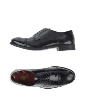 Обувь на шнурках BASE London. Цвет: стальной серый