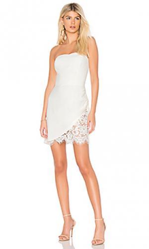 Платье devyn Amanda Uprichard. Цвет: белый
