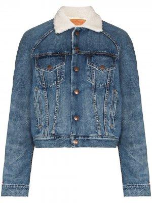 Джинсовая куртка Xeter Denimist. Цвет: синий