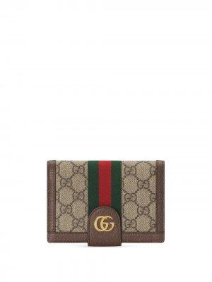 Обложка на паспорт с монограммой Gucci. Цвет: нейтральные цвета
