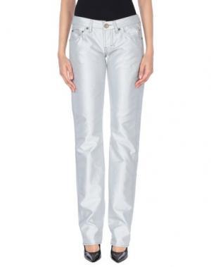 Повседневные брюки FREESOUL. Цвет: светло-серый