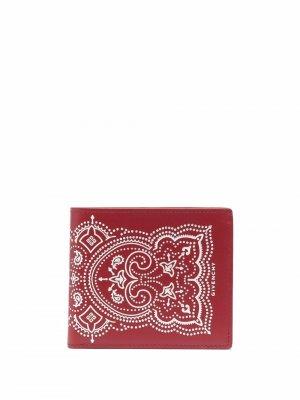 Бумажник с принтом Givenchy. Цвет: красный