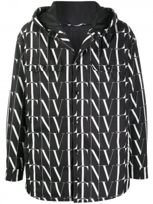 Куртка с капюшоном и логотипом VLTN Valentino. Цвет: черный
