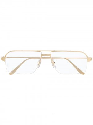 Очки CT0231O в прямоугольной оправе Cartier Eyewear. Цвет: золотистый
