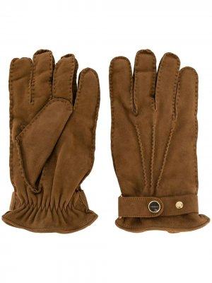 Перчатки с логотипом Lardini. Цвет: коричневый