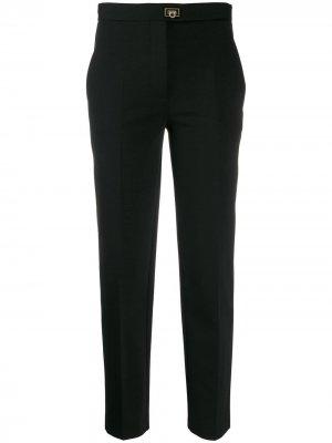 Укороченные брюки строгого кроя Salvatore Ferragamo. Цвет: черный