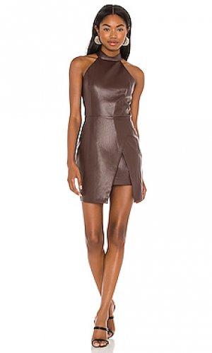 Мини платье raelynn Amanda Uprichard. Цвет: шоколадный