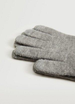 Сенсорные перчатки из трикотажа - Touch Mango. Цвет: меланжевый светло-серый