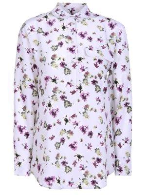 Шелковая рубашка с цветами EQUIPMENT