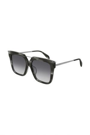 Очки солнцезащитные Alexander McQueen. Цвет: 003