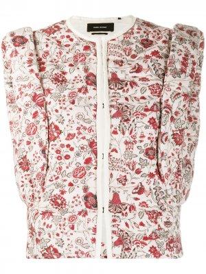 Дутый жилет Adiena с цветочным принтом Isabel Marant. Цвет: розовый