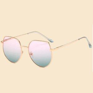 Детские солнечные очки SHEIN. Цвет: золотистый