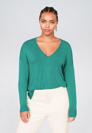 Пуловер Violeta by Mango - LISA. Цвет: бирюзовый