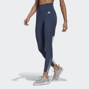 Леггинсы для фитнеса Design 2 Move Athletics adidas. Цвет: синий