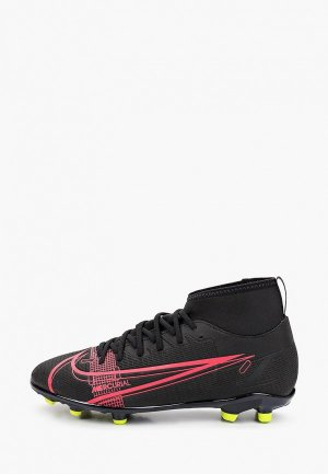 Бутсы Nike JR SUPERFLY 8 CLUB FG/MG. Цвет: черный