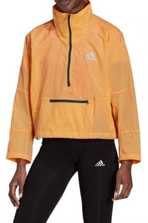 Анорак Adapt Jacket W adidas. Цвет: оранжевый