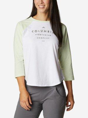 Лонгслив женский Sun Trek™, размер 42 Columbia. Цвет: белый