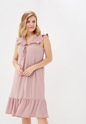 Платье Lost Ink Plus SWING DRESS IN RIB. Цвет: розовый