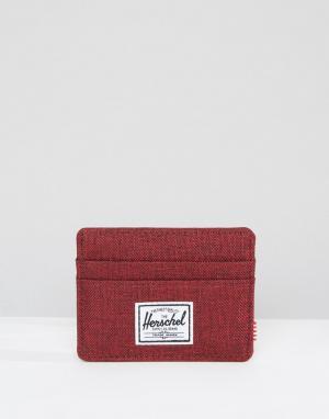 Визитница Charlie Herschel Supply Co. Цвет: красный