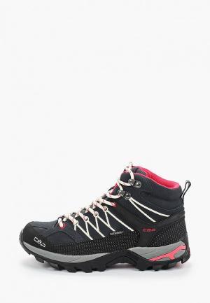 Ботинки трекинговые CMP RIGEL MID WMN WP. Цвет: серый