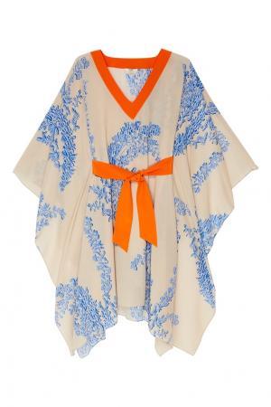 Платье из шелка с принтом Fendi. Цвет: multicolor