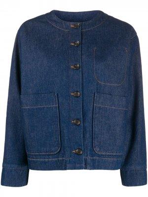 Джинсовая куртка без воротника A.P.C.. Цвет: синий