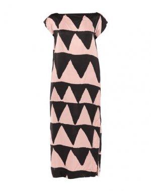 Длинное платье VIVIENNE WESTWOOD ANGLOMANIA. Цвет: розовый