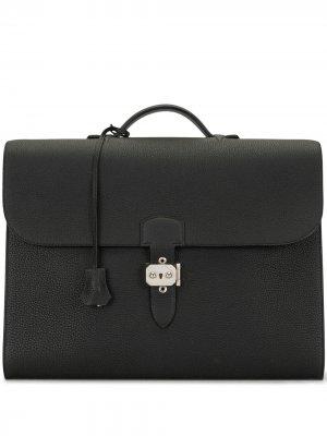 Портфель Sac A Depeche 38 2015-го года Hermès. Цвет: черный