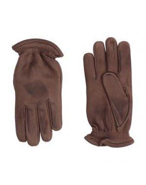Перчатки ORCIANI. Цвет: коричневый