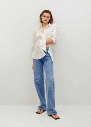 Прямые джинсы с завышенной талией - Kaia Mango. Цвет: синий средний