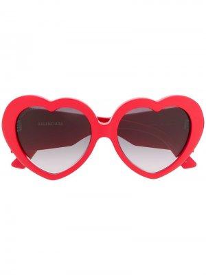 Солнцезащитные очки Susi в оправе форме сердца Balenciaga. Цвет: красный