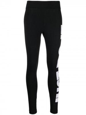 Легинсы с надписью Nike. Цвет: черный