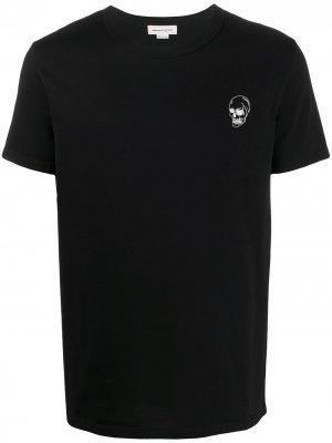 Skull print crew neck T-shirt Alexander McQueen. Цвет: черный