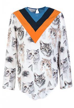 Блуза STELLA McCARTNEY. Цвет: серый