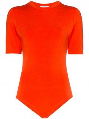 Боди с открытой спиной Ninety Percent. Цвет: оранжевый
