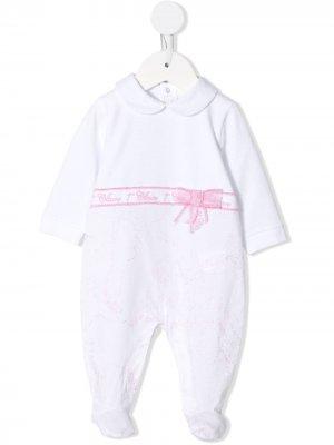 Пижама с контрастной лентой Alviero Martini Kids. Цвет: белый