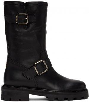 Black Biker II Boots Jimmy Choo. Цвет: black/natural
